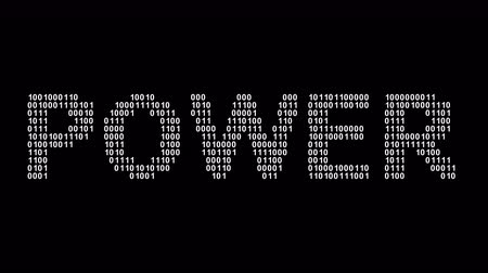 Power. Binary code in the screen. Looping footage. Illustration.