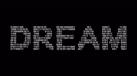 motivasyonel : Dream. Binary code in the screen. Looping footage. Illustration. Stok Video