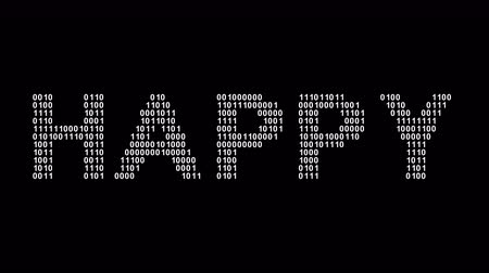idéia genial : Happy. Binary code in the screen. Looping footage. Illustration.