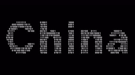 China. Binary code in the screen. Looping footage. Illustration.