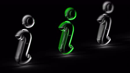 navegador : Internet icon in black background. Looping footage. 3D Illustration. Vídeos