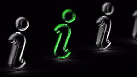 Internet icon in black background. Looping footage. 3D Illustration. Stok Video