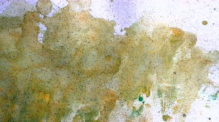 szürkeárnyalatos : abstract watercolor color painting watercolour on background Stock mozgókép