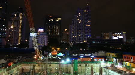 duro : Construction at night , timelapse
