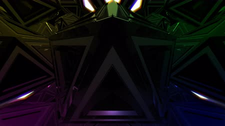 blinking light : 4K Abstract 3D Triangle Shape VJ Animation