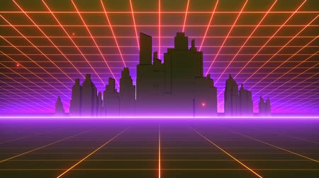 abridor : Retro-futuristic 80s synthwave grid background. Perfectly looped opener animation.