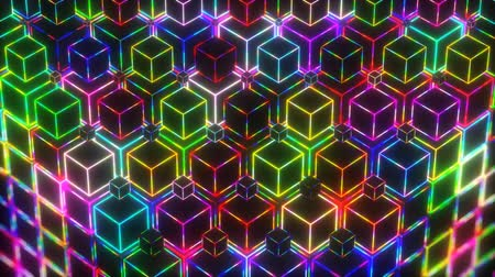 boate : Neon VJ Loop Colorful Lights Cubes 4k Video Background
