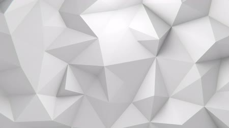 вершина : Low polygonal white waving background. Seamlessly looping video