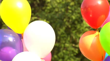 léggömb : background of multicoloured balloons