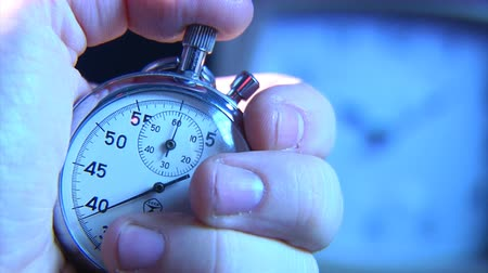 minute hand : stop-watch in hand Stock Footage