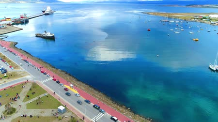 mystik : port of the city of ushuaia argentina