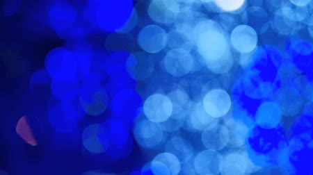 açık mavi : Blue light bokeh abstract light background Stok Video