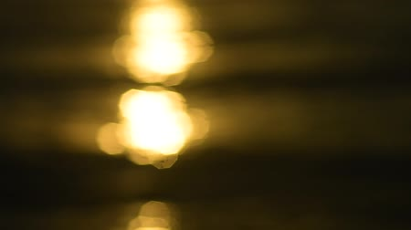 evening sun : Abstract bokeh of sunset light on sea water surface
