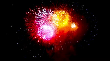 finale : beautiful fireworks finale colorful Stock Footage