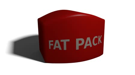 Bloque animado con Fat Pack de texto