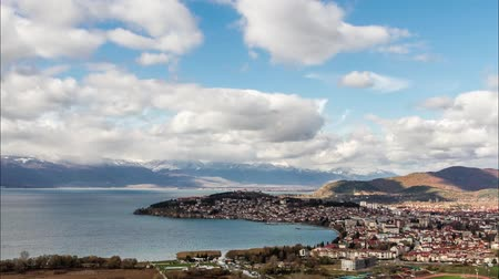 ohrid : Aerial view of Ohrid, Macedonia Stock Footage