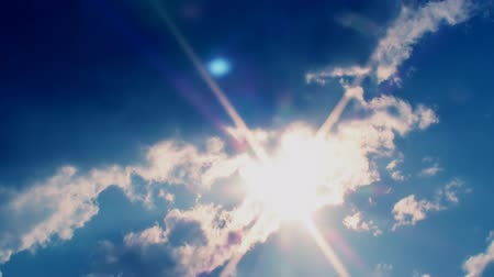 mese : dramatic time lapse video of Sunny Clouds And Sun Cinematic Trailer