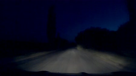 mroczne : Mysterious mystical dangerous road at dark night