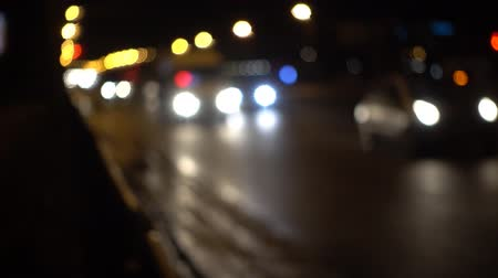 natural Cars Traffic Bokeh lights night road Background