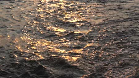 Gold Water River Background Waves sun sparkles