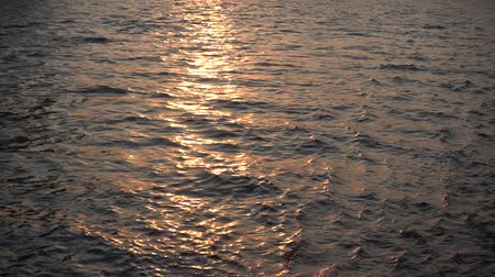 Sunset Gold River Water Slowmo Background