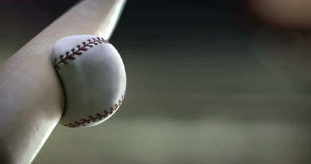 ruch : Baseball Bat hitting ball, super slow motion.
