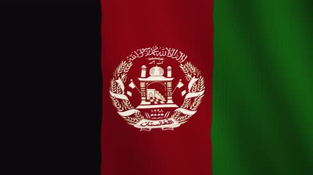 afghan : Afghanistan flag waving animation. Full Screen. Symbol of the country. Stock Footage
