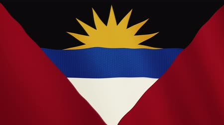 doména : Antigua and Barbuda flag waving animation. Full Screen. Symbol of the country.