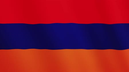 oy : Armenia flag waving animation. Full Screen. Symbol of the country. Stok Video