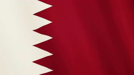 nejlon : Bahrain flag waving animation. Full Screen. Symbol of the country. Stock mozgókép