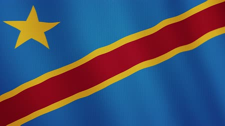 ensign : Democratic Republic of the Congo flag waving animation. Full Screen. Symbol of the country.