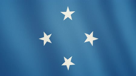 ensign : Federated States of Micronesia flag waving animation. Full Screen. Symbol of the country.