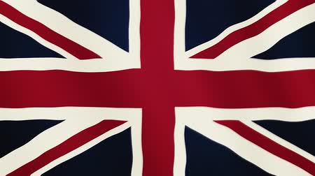 gururlu : Great Britain flag waving animation. Full Screen. Symbol of the country.