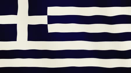 greece flag : Greece flag waving animation. Full Screen. Symbol of the country.