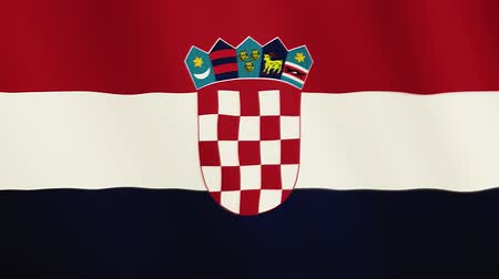 честь : Croatia flag waving animation. Full Screen. Symbol of the country. Стоковые видеозаписи