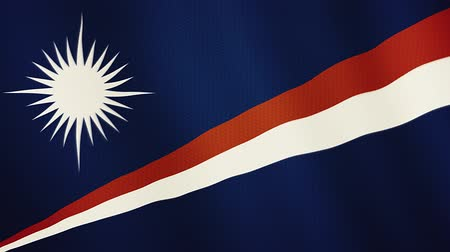 ábrázol : Marshall Islands flag waving animation. Full Screen. Symbol of the country.