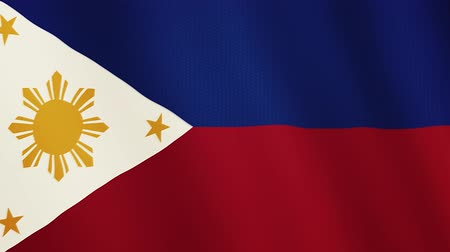philippine : Philippines flag waving animation. Full Screen. Symbol of the country.