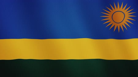 marş : Rwanda flag waving animation. Full Screen. Symbol of the country.