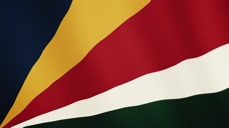 západ : Seychelles flag waving animation. Full Screen. Symbol of the country.