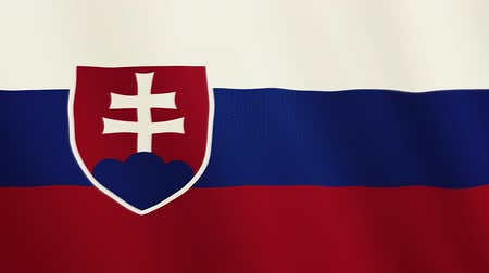 Словакия : Slovakia flag waving animation. Full Screen. Symbol of the country.