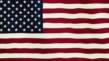 Észak amerika : United States of America flag waving animation. Full Screen. Symbol of the country. Stock mozgókép