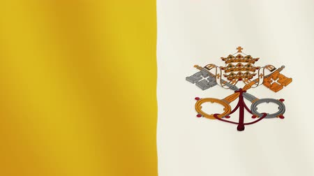 vatikan : Vatican flag waving animation. Full Screen. Symbol of the country.