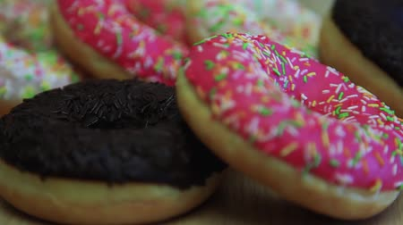 kobliha : Assorted donuts are on the table. Close-up