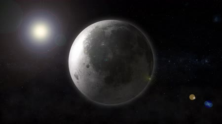 lunar : Planet the moon revolves in space