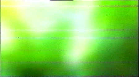 artifacts : VHS Analog Abstract Digital Animation. Old TV. Glitch Error Video Damage. Signal Noise. System error. Unique Design. Bad signal. Digital TV Noise flickers. No signal. Green background Stock Footage