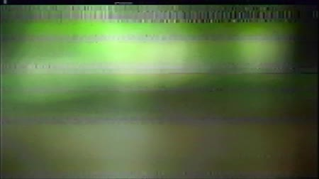 VHS Analog Abstract Digital Animation. Old TV. Glitch Error Video Damage. Signal Noise. System error. Unique Design. Bad signal. Digital TV Noise flickers. No signal. Green and orange spots Wideo
