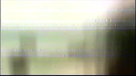 VHS Analog Abstract Digital Animation. Old TV. Glitch Error Video Damage. Signal Noise. System error. Unique Design. Bad signal. Digital TV Noise flickers. No signal. Beige background