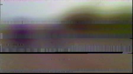 VHS Glitches Analog Abstract Digital Animation. Old TV. Glitch Error Video Damage. Signal Noise. System error. Unique Design. Bad signal. Digital TV Noise flickers. Colorful Noises Stock Footage