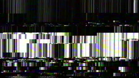 VHS Glitches analoge abstracte digitale animatie. Oude tv. Glitch Error Video Damage. Signaalruis. Systeemfout. Uniek ontwerp. Slecht signaal. Digitale tv-ruis flikkert. Groene vlekken