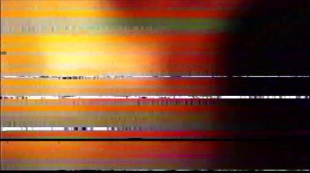 VHS Glitches Analog Abstract Digital Animation. Old TV. Glitch Error Video Damage. Signal Noise. System error. Unique Design. Bad signal. Digital TV Noise flickers. Red glow Wideo